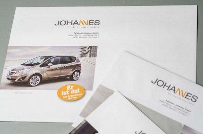 Autohaus Johannes Geschäftsausstattung und Logonentwicklung